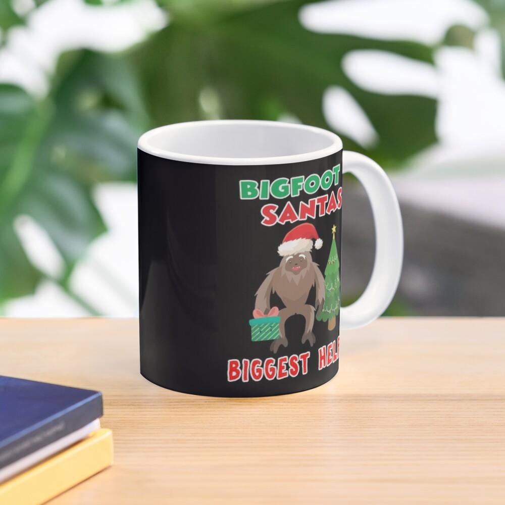 Santas Biggest Helper Squatchy Christmas Present. Mug