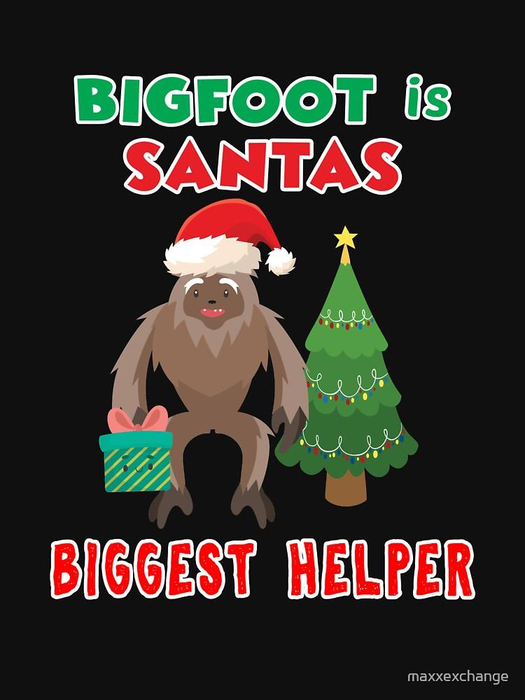Santas Biggest Helper Squatchy Christmas Present. by maxxexchange