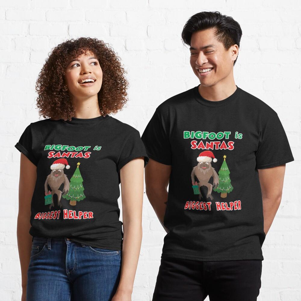 Santas Biggest Helper Squatchy Christmas Present. Classic T-Shirt