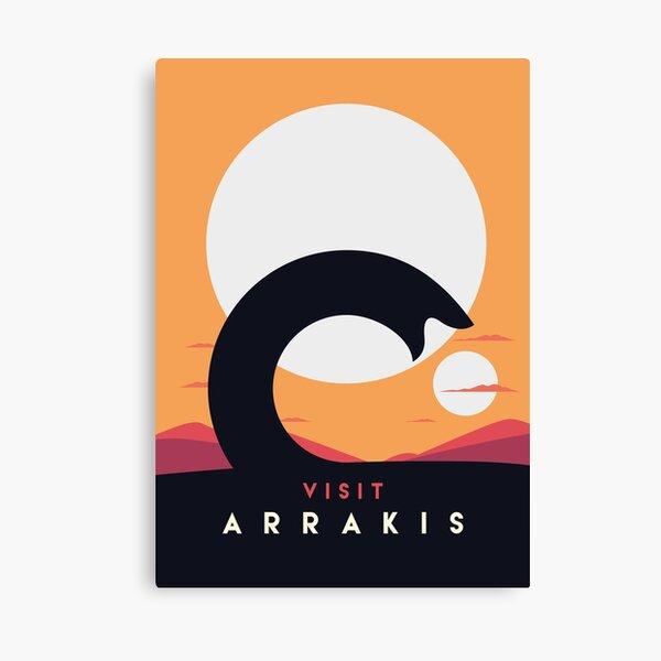 Dune 2020 Visit Arrakis Sandworm Canvas Print