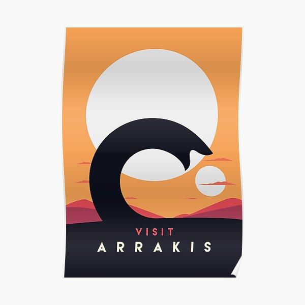 Dune 2020 Visit Arrakis Sandworm Poster