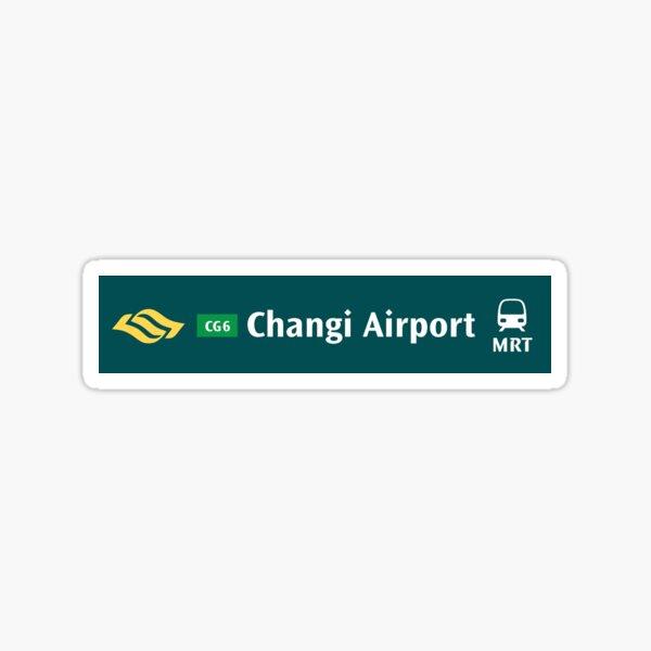 Changi Airport MRT Sign Sticker
