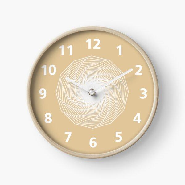 Beige Spiral Clock