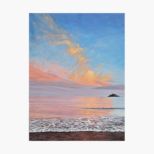 Sunlit Clouds Over Ballycotton Island Photographic Print