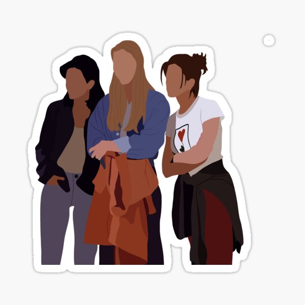 Rachel, Phoebe and Monica! Sticker