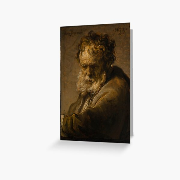 Rembrandt - Bust of a Bearded Old Man Greeting Card