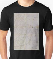 Civil War Maps 0516 Information map Southeastern Tennessee Unisex T-Shirt