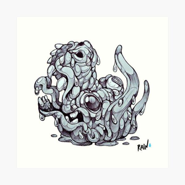 A Monster Boss Head Art Print