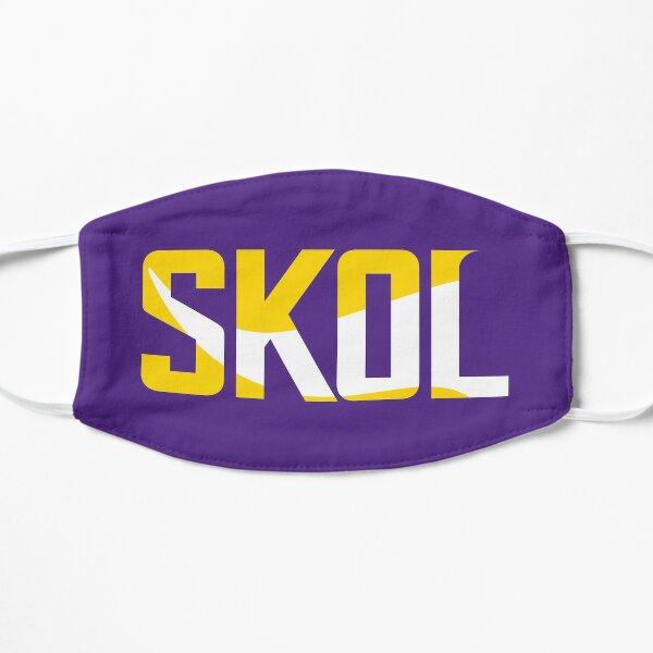 Minnesota Vikings Skol Text Design Flat Mask