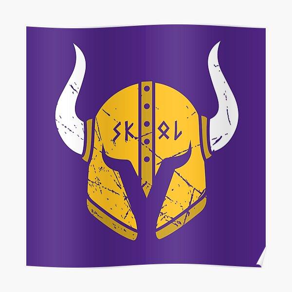 Minnesota Vikings Skol Helmet Poster