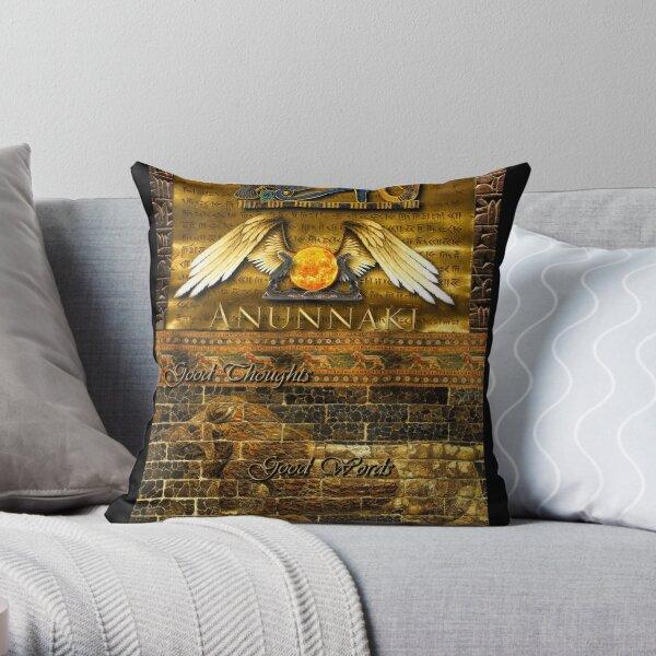 Anunnaki Throw Pillow