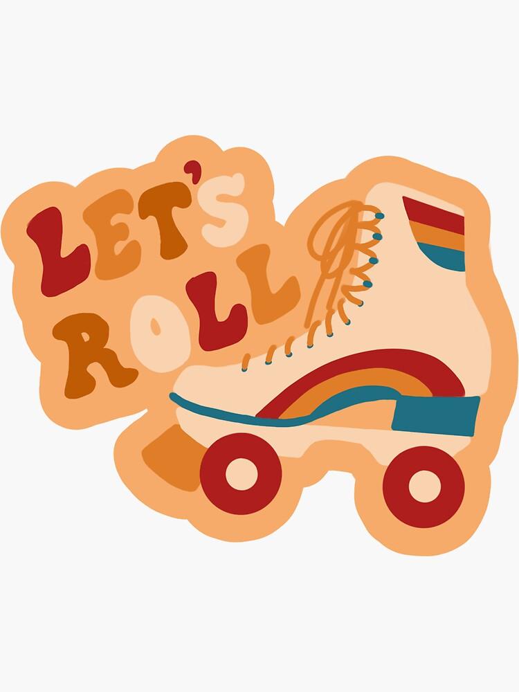 Let's Roll 70s retro rollerskating roller girl by spellcaststudio