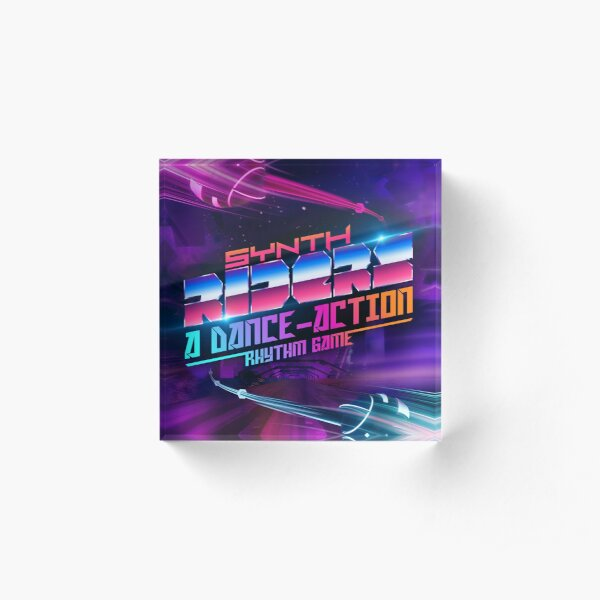 Synth Riders: A Dance-Action Rhythm Game Acrylic Block
