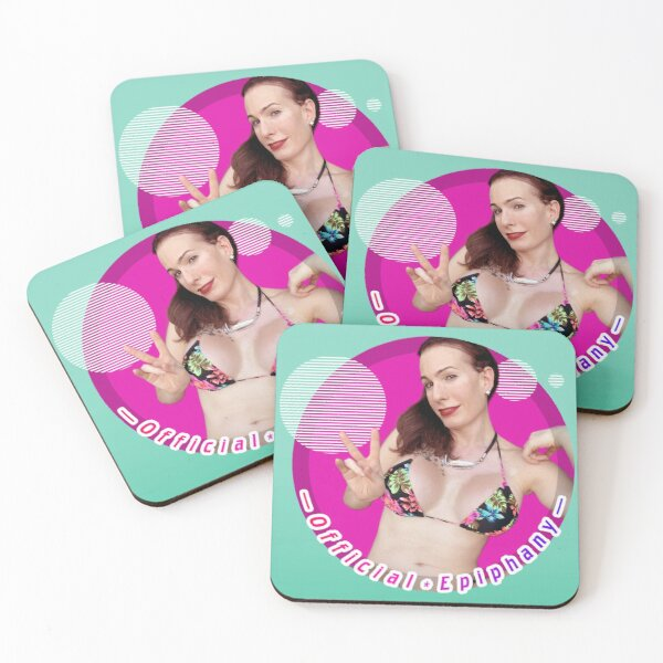 Cover Girl Ms Julia, Official Epiphany (round)  Coasters (Set of 4)