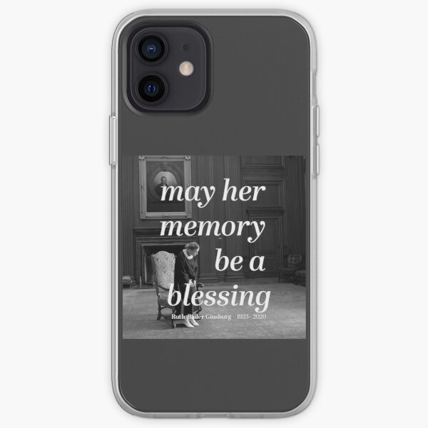 """Privilege Ruth Bader Ginsburg """"May Her Memory Be A Blessing"""" iPhone Soft Case"""