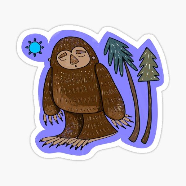 Cute Kawaii Bigfoot Yeti Pattern  Sticker
