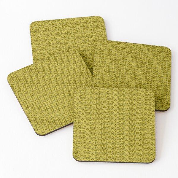 Mustard Garter Stitch Coasters (Set of 4)
