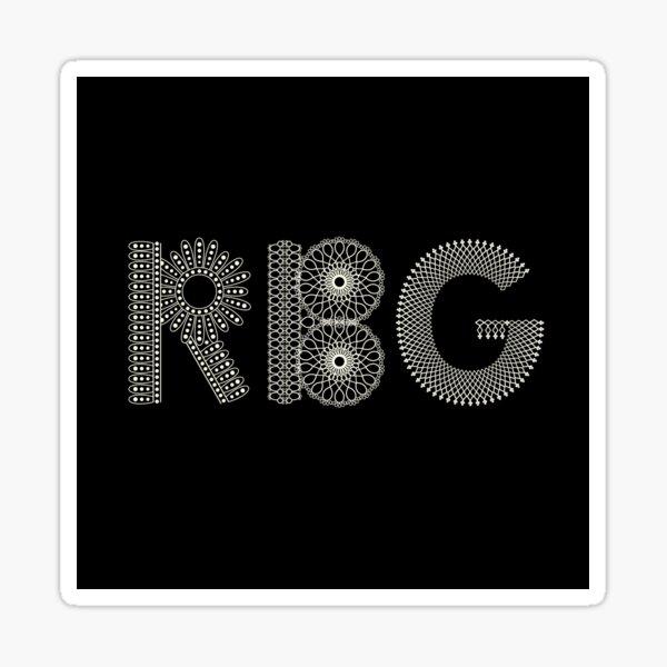 RBG honoring Ruth Bader Ginsburg Sticker