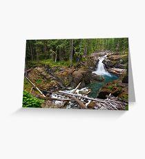 Silver Falls on the Ohanapecosh Greeting Card