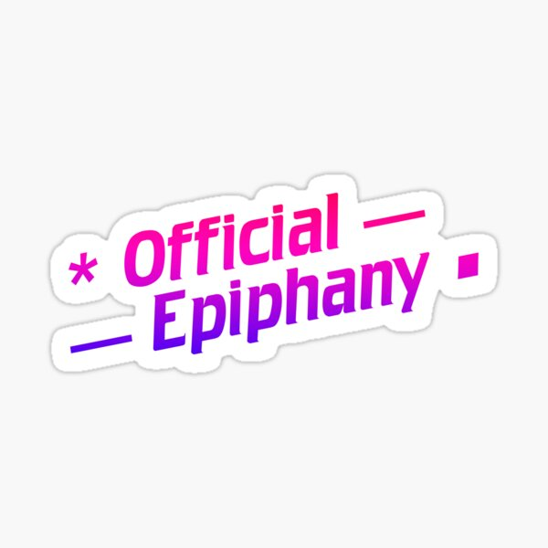 Official Epiphany 2-line logo Glossy Sticker