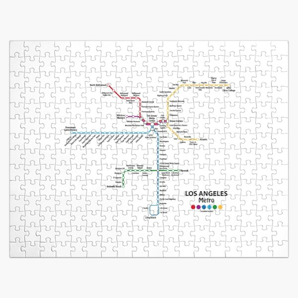 LOS ANGELES Metro Map Jigsaw Puzzle