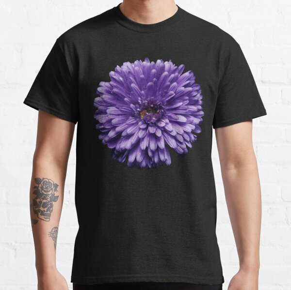 Wild violet chrysanthemum flower photo Classic T-Shirt
