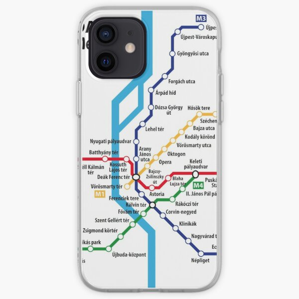 BUDAPEST metro network iPhone Soft Case