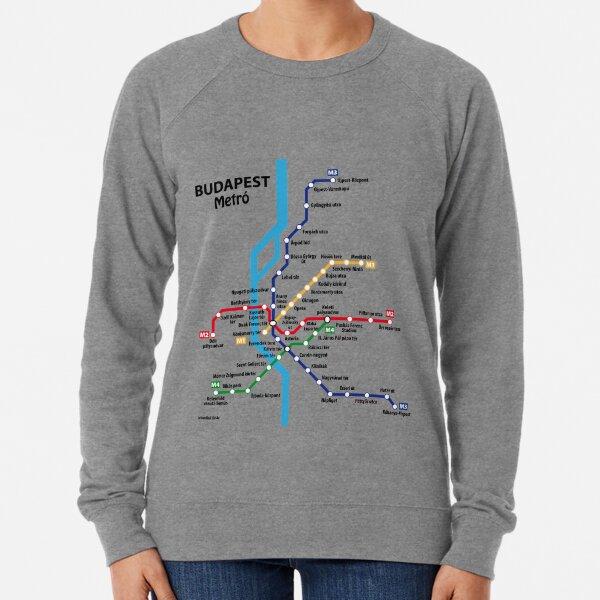 BUDAPEST metro network Lightweight Sweatshirt