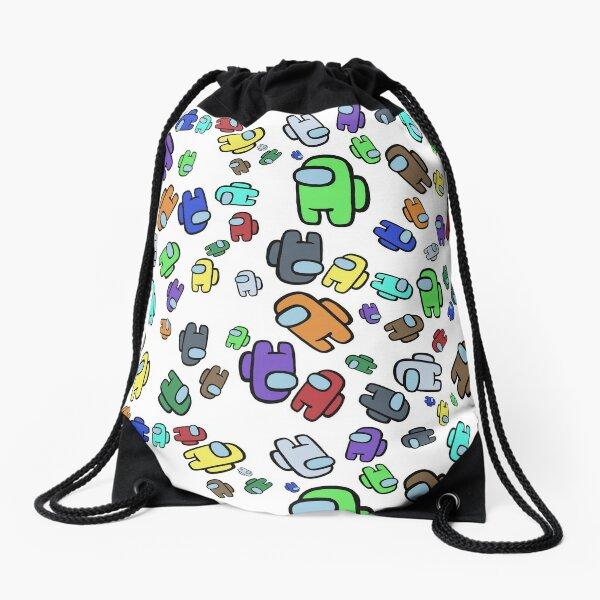 Among Us Pattern Drawstring Bag