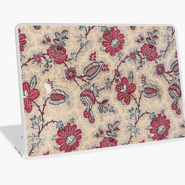 Vintage French Textile (ca. 1800s) from Museum of Fine Arts Boston Laptop Skin