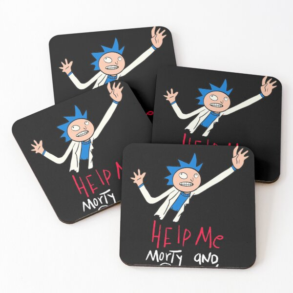 Rick and Morty   Help Me Summer and Morty Paper Coasters (Set of 4)
