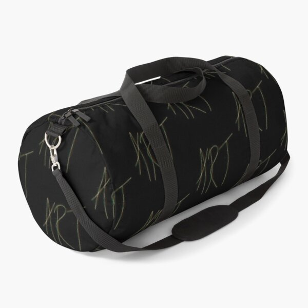 ART one line abstract glitch Duffle Bag