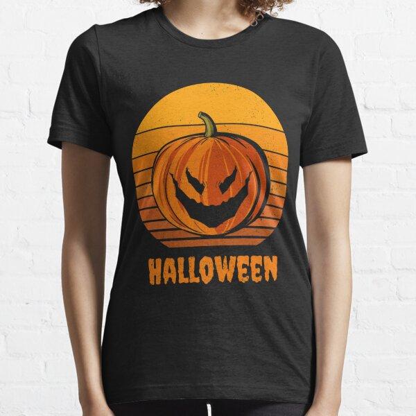 Halloween Pumpkin Classic Fall Vintage Sunset Essential T-Shirt
