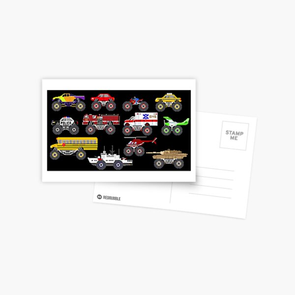 Monster Vehicles - The Kids' Picture Show Postcard