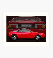 Lancia Beta Monte Carlo Art Print