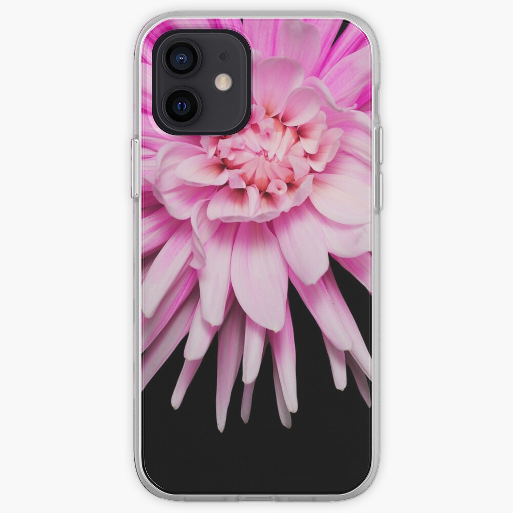Wild pink dahlia flower photo iPhone Case & Cover