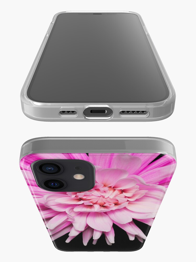 Alternate view of Wild pink dahlia flower photo iPhone Case & Cover