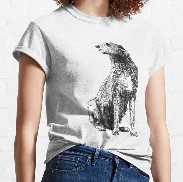 Sitting Irish Wolfhound Dog Classic T-Shirt