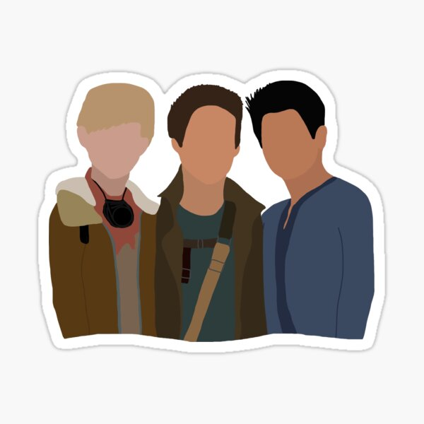 Le trio de coureurs de labyrinthe Sticker