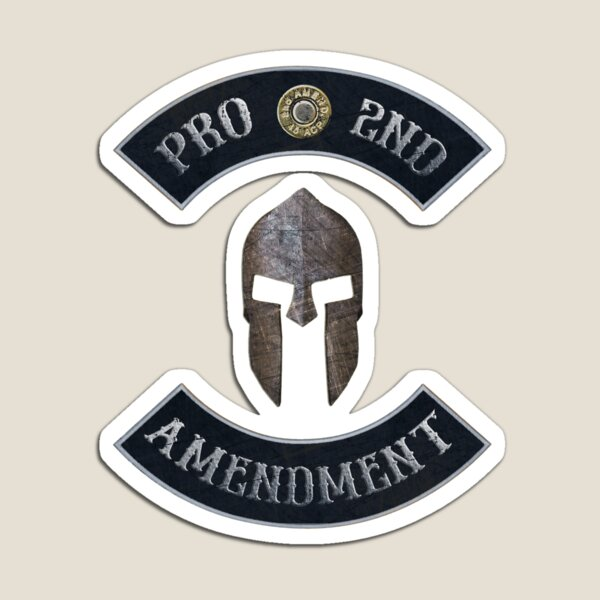 Pro 2nd Amendment in Rockers with Spartan Helmet Magnet