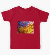 The Red Bush - Photograph of Mixed Media Work Kids Clothes