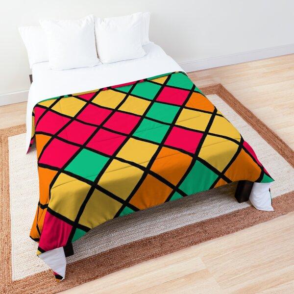 Battern Cute Colored Square Colorful  Comforter