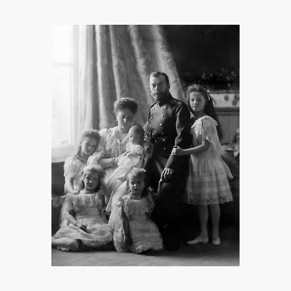 Romanov Family Portrait - Circa 1904 Photographic Print