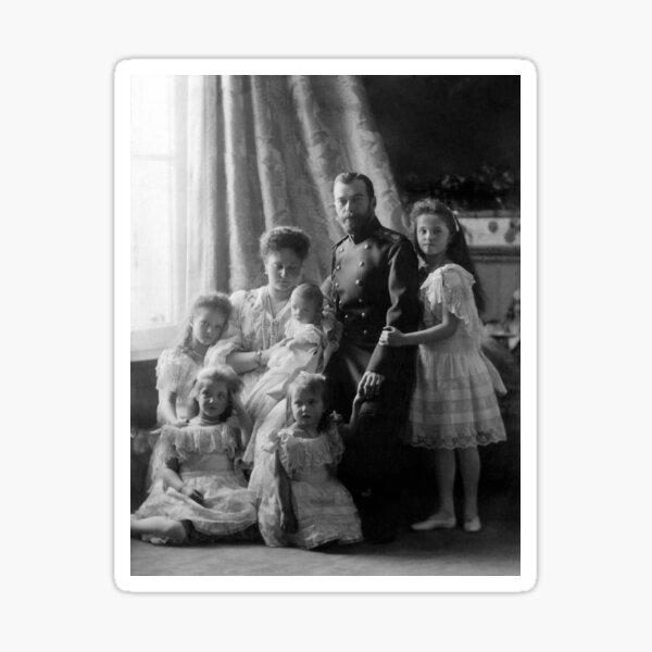 Romanov Family Portrait - Circa 1904 Sticker