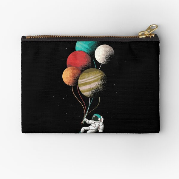 Astronaut with balloons Zipper Pouch
