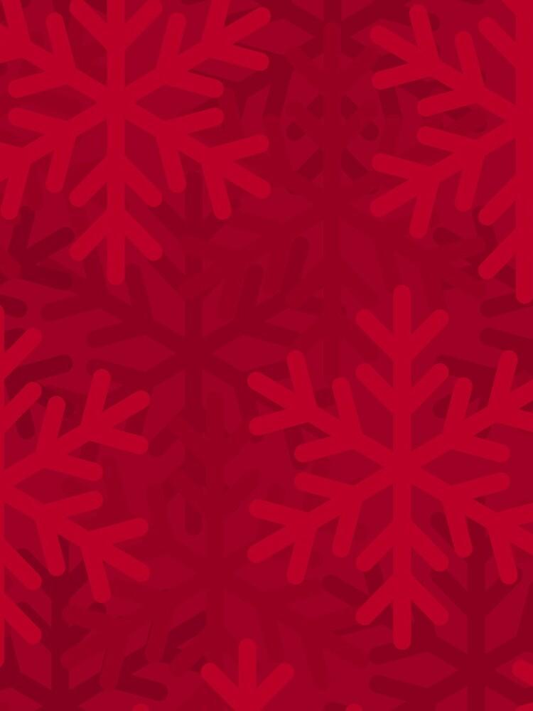 Snowflake Red by JJAEDesigns