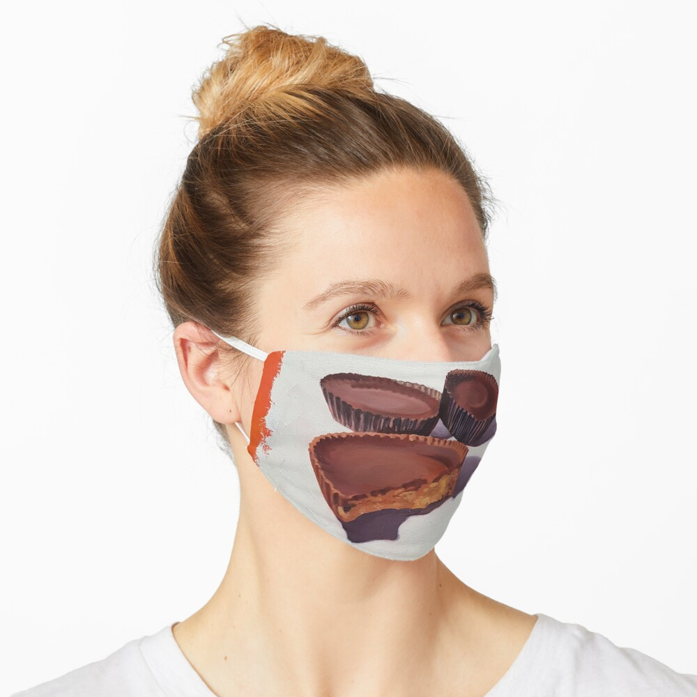 Peanut Butter Cups painting Mask