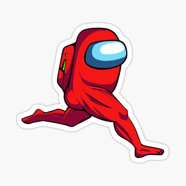 Running Red Sus Sticker
