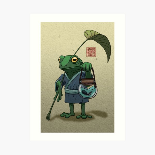 A Frog and His Son Art Print