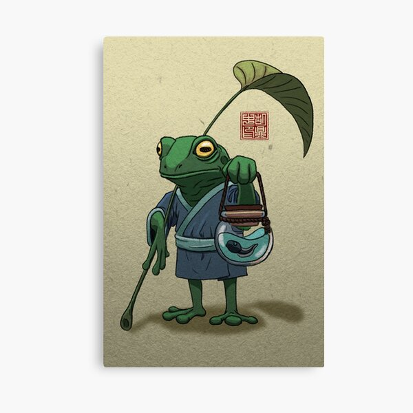 A Frog and His Son Canvas Print